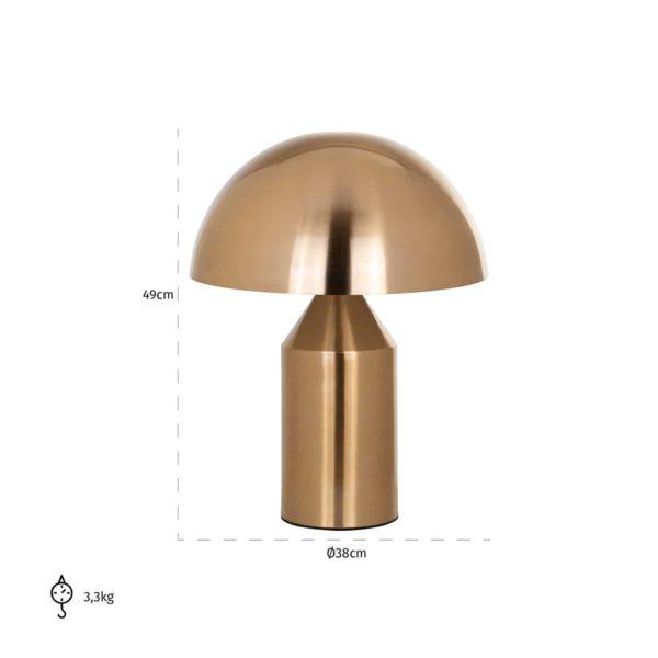 -LB-0097 - Tafellamp Alicia goud (Brushed Gold)