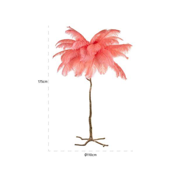 -LB-0105 - Vloerlamp Burlesque coral