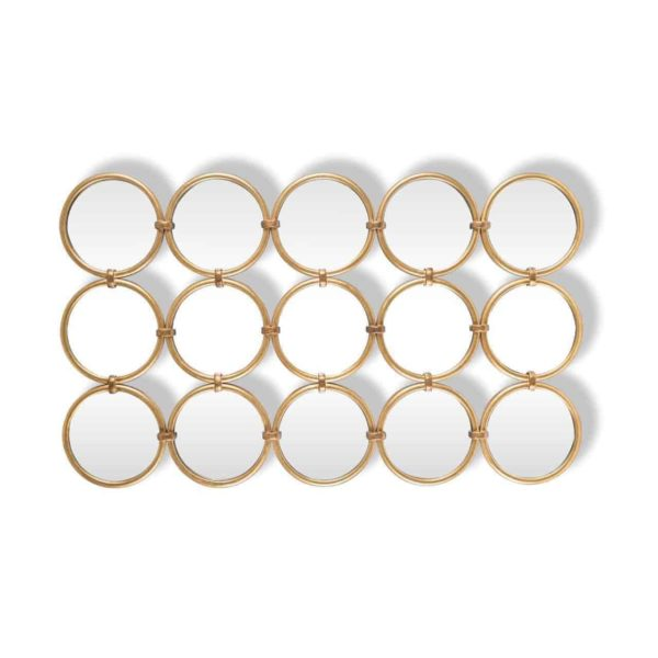 -MI-0039 - Spiegel Coley met 15 ronde spiegels (Goud)