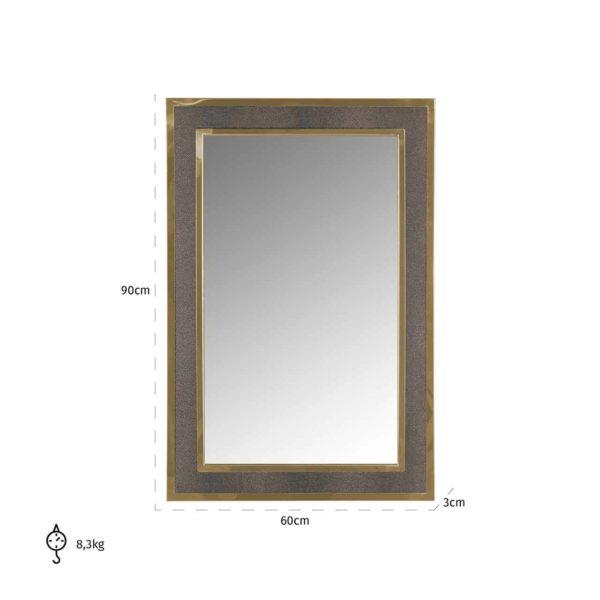-MI-0045 - Spiegel Bara met gouden rand (Goud)
