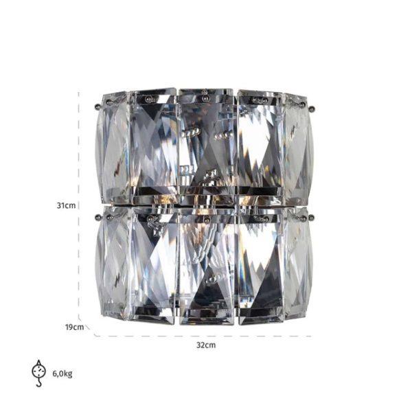 -ML-0003 - Wandlamp Auden (Silver)