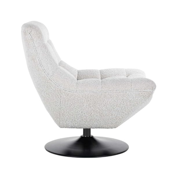 S5128 WHITE BOUCLÉ - Draaifauteuil  Richelle White Bouclé (Copenhagen 900 Bouclé White)