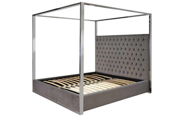 S6000 STONE VELVET - Bed Victoria 180x200 excl. matras (ZZZ-Quartz Stone 101)