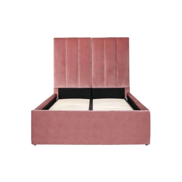 S6004 BLUSH VELVET - Bed Moody 120x200 excl. matras (Genova 706  Blush)