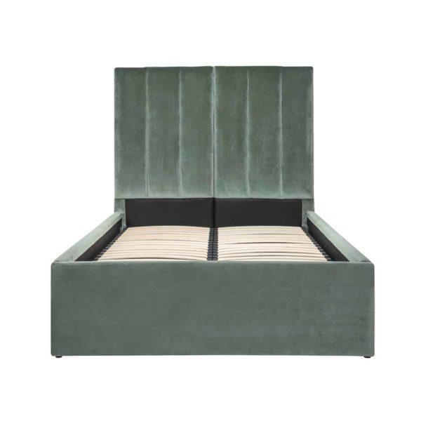 S6004 JADE VELVET - Bed Moody 120x200 excl. matras (Genova 504 Jade)