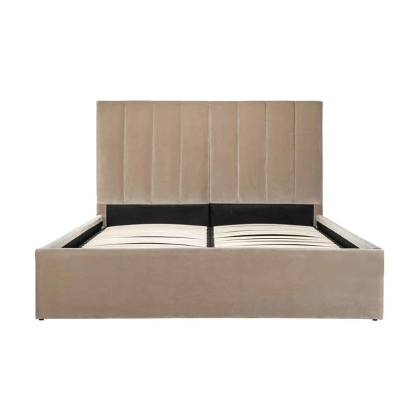 S6005 SAND VELVET - Bed Moody 180x200 excl. matras (Genova 904 Sand)